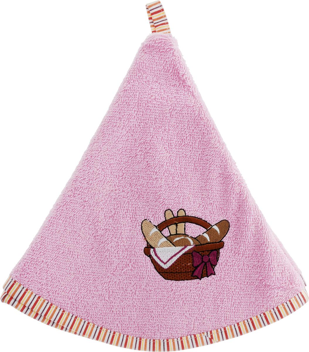 Полотенце кухонное Karna Zelina. Тыква, цвет: розовый, диаметр 50 смVT-1520(SR)Круглая кухонная салфетка Karna Zelina. Тыква выполнена из приятной на ощупь махровой ткани (100% хлопок). Изделие отлично впитывает влагу, быстро сохнет, сохраняет яркость цвета и не теряет форму даже после многократных стирок. Салфетка дополнена каймой контрастного цвета и красивой вышивкой. С помощью специальной петельки ее удобно вешать на крючок. Салфетка очень практична и неприхотлива в уходе. Она создаст прекрасное настроение и дополнит интерьер.