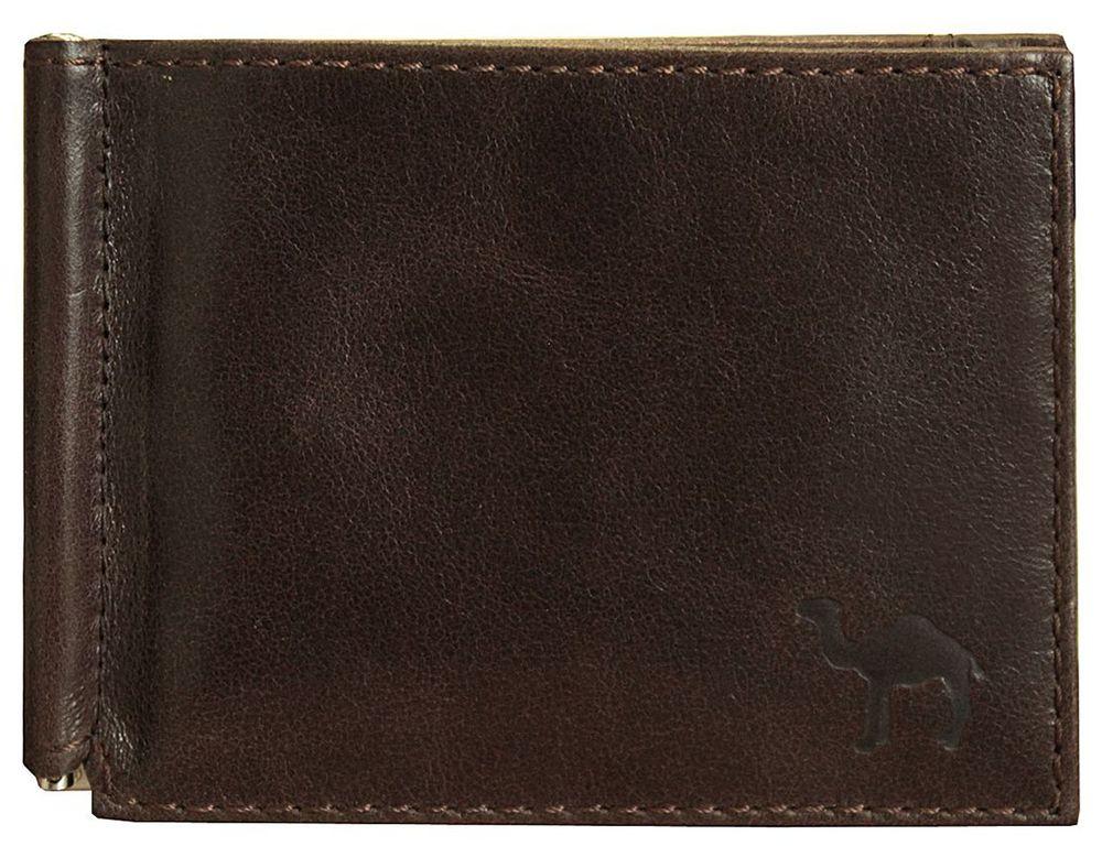 Зажим для купюр мужской Dimanche Camel, цвет: коричневый. 639/М490300нУдобный зажим Dimanche Camel из натуральной кожи снабжен фиксирующейся в открытом положении скобой для денег. Внутри 6 карманов для кредиток/визиток и 2 потайных кармашка. На задней стороне расположен карман для мелочи на кнопке. Зажим упакован в фирменную картонную коробку.