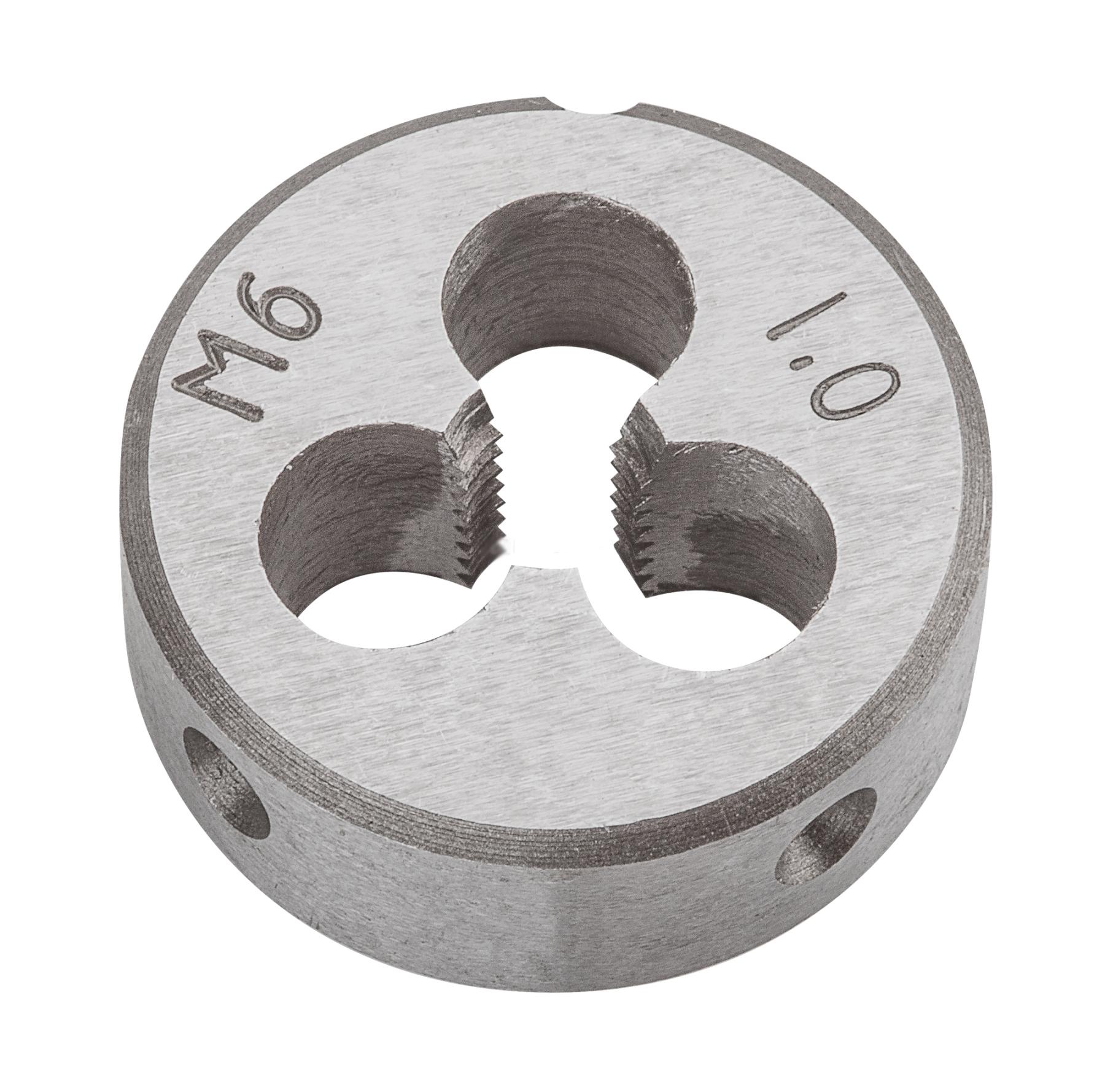 Плашка вольфрамовая Topex, М6, 25 х 9 мм98293777Плашки вольфрамовые Торех используются для нарезания метрической резьбы. Характеристики: Материал: металл. Шаг резьбы: М6. Размеры плашки: 2,5 см х 0,9 см. Размеры упаковки:9 см х 5 см х 1,5 см.