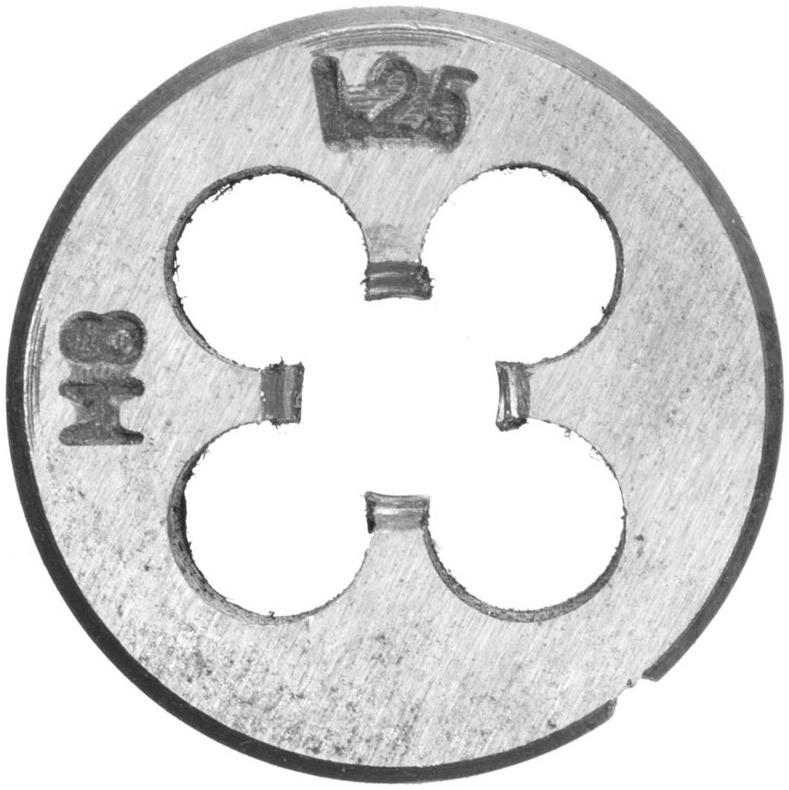 Плашка вольфрамовая Topex, М8, 25 х 9 мм