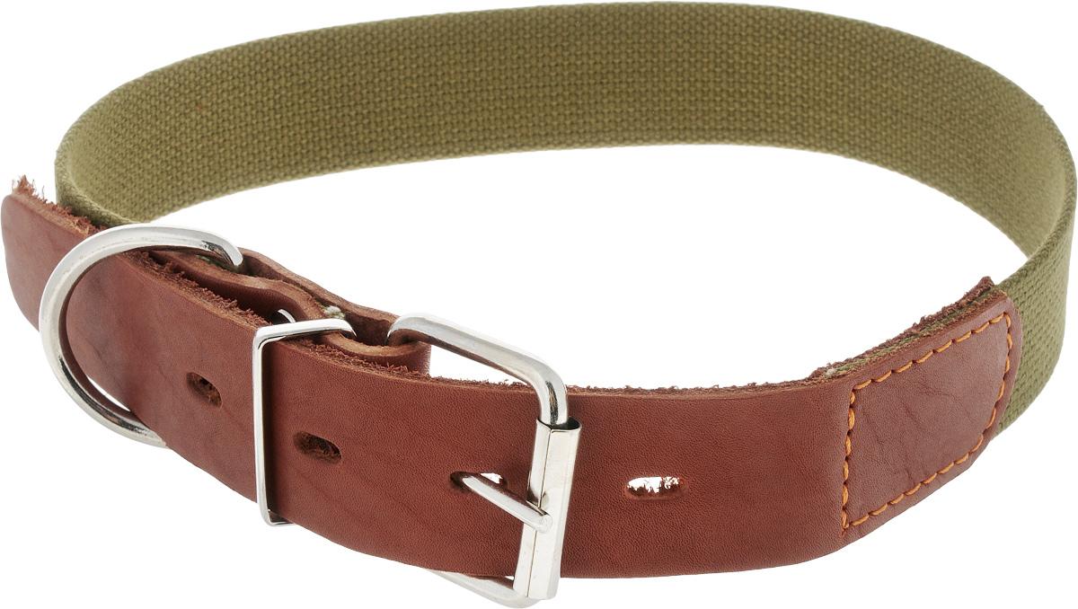 Ошейник для собак Каскад Классика, брезентовый, ширина 3,5 см, обхват шеи 55-64 см ошейник для собак каскад классика цвет черный ширина 3 см обхват шеи 44 53 см 00030012