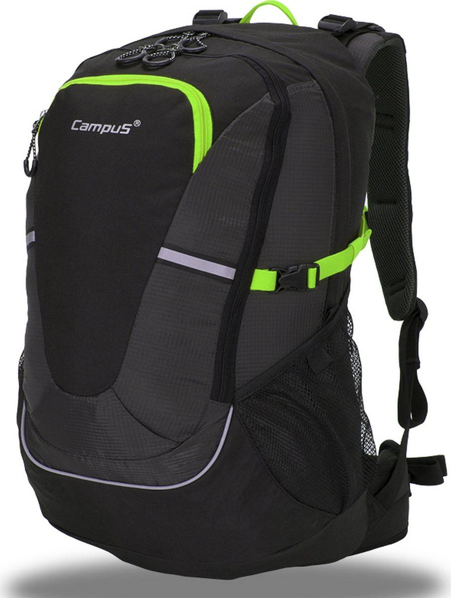 Рюкзак туристический Campus Horton 2 45l, цвет: черный, зеленый. 5038025132241 - Туристические рюкзаки