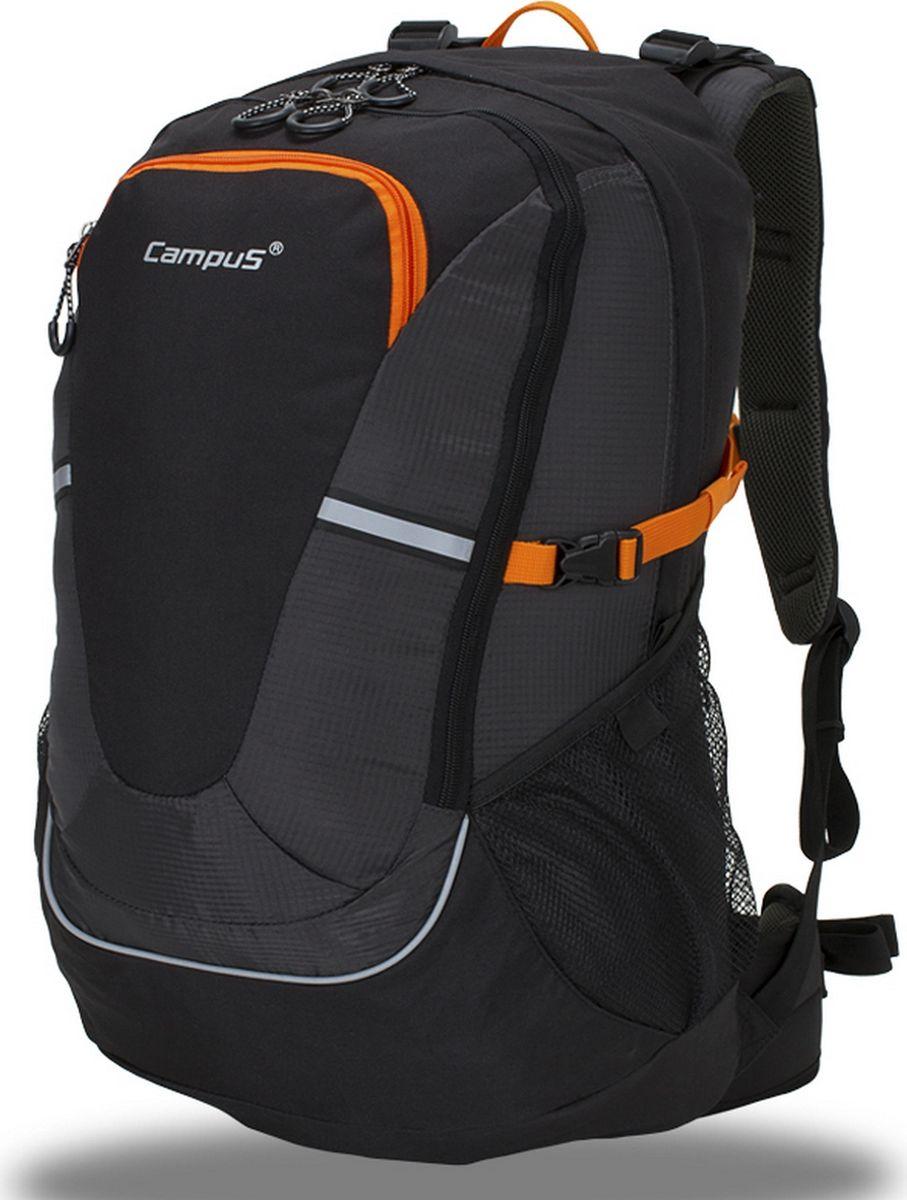Рюкзак туристический Campus Horton 2 45l, цвет: черный, оранжевый. 5038025132258 - Туристические рюкзаки