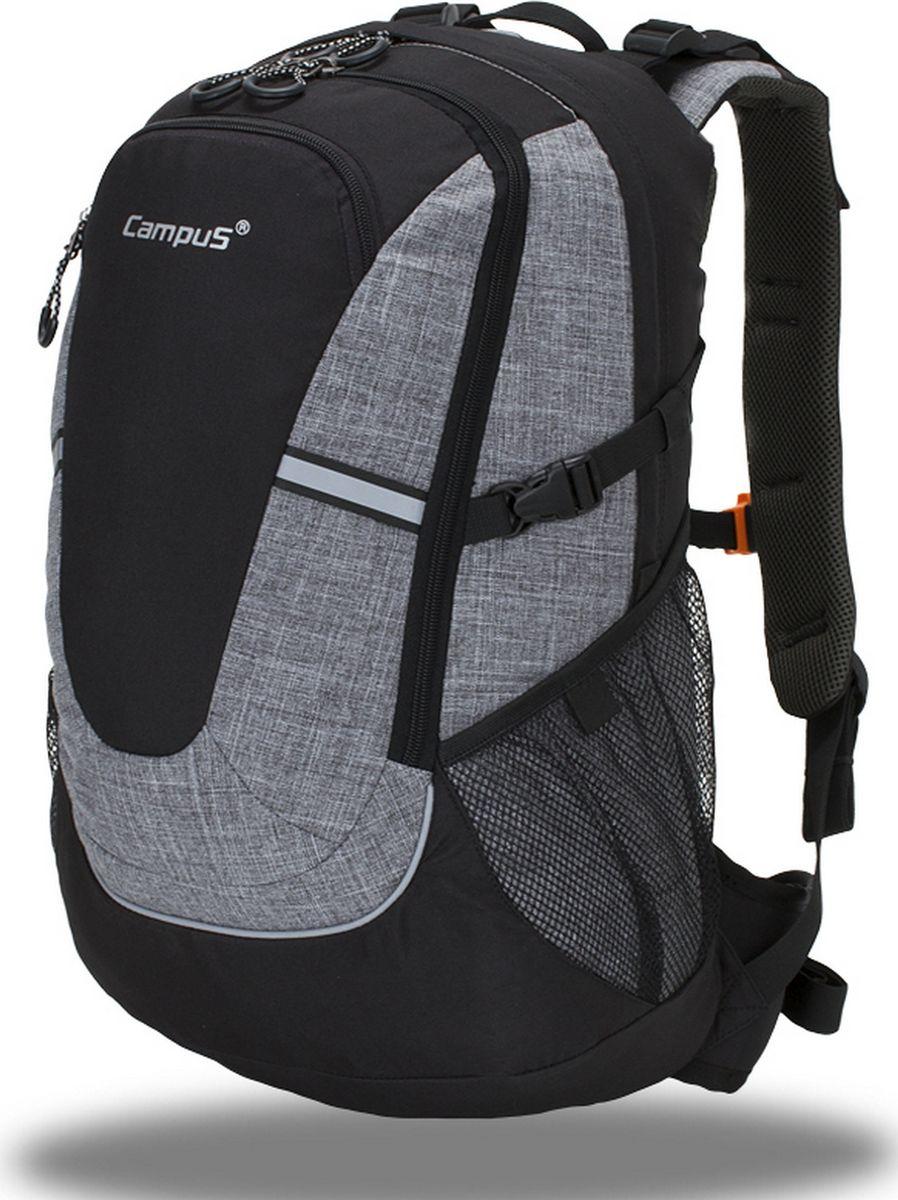 Рюкзак туристический Campus Horton 2 30l, цвет: черный, серый. 5038025132265 - Туристические рюкзаки