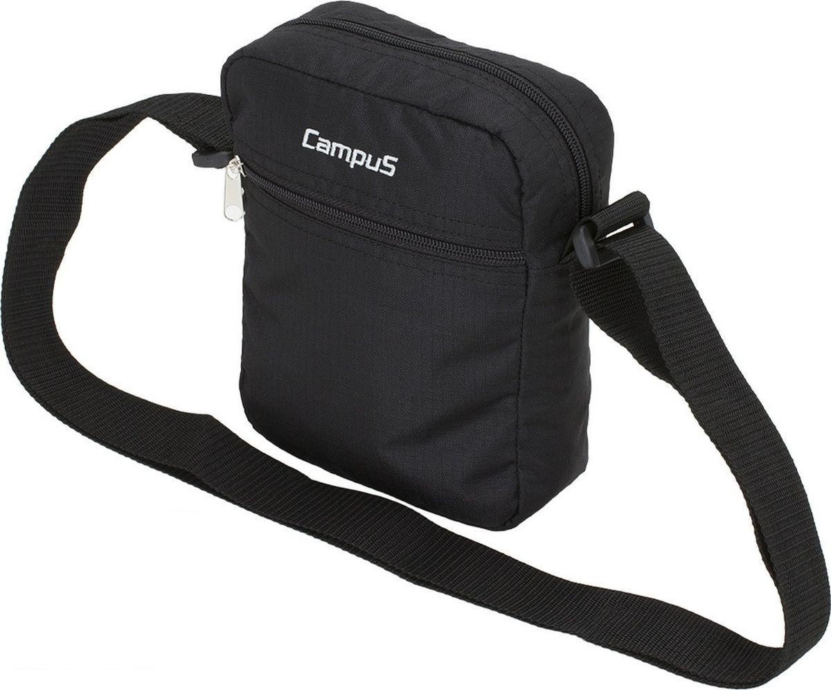 Сумка Campus Pag, цвет: черный. 5038025160886Z90 blackУниверсальная сумочка для аксессуаров -ключи, телефон и т. д.* регулируемый ремень* 3 кармана на молнии* материал ripstop* очень прочные и долговечные замки