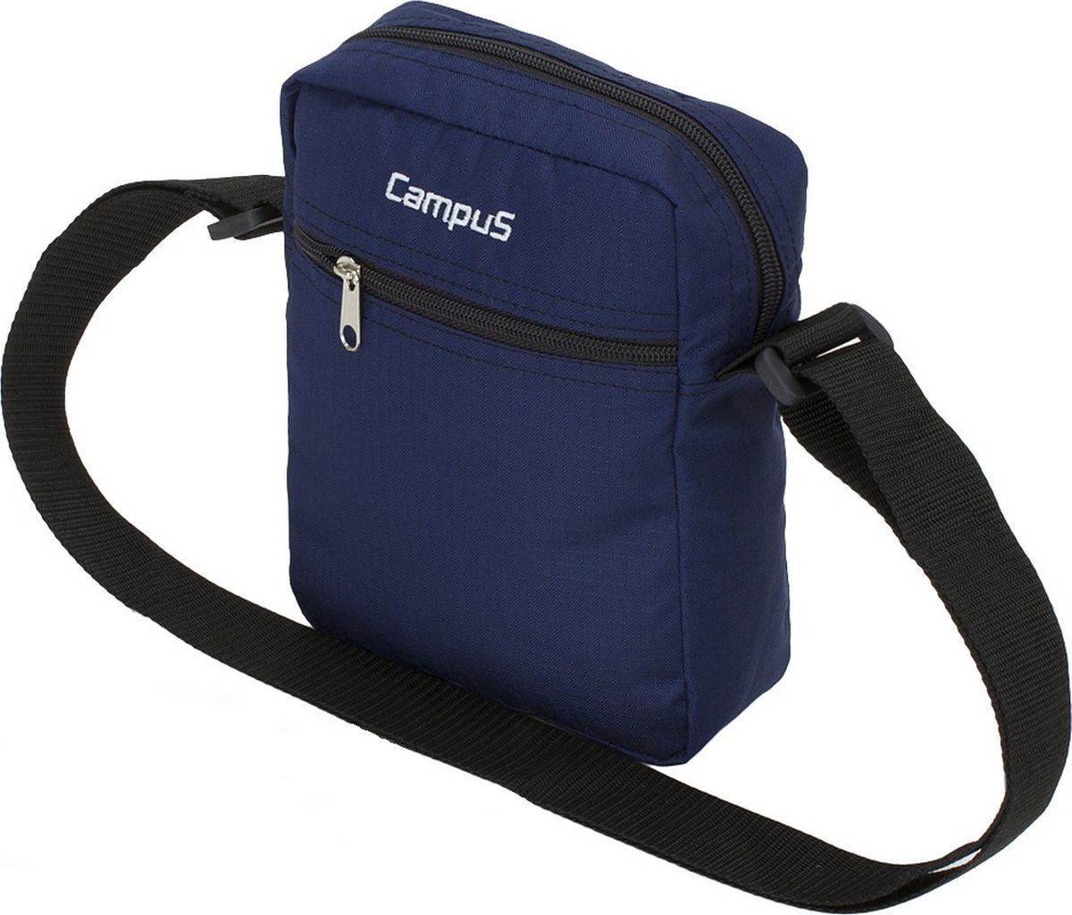Сумка Campus Pag, цвет: синий. 50380251609235038025160923Универсальная сумочка для аксессуаров -ключи, телефон и т. д.* регулируемый ремень* 3 кармана на молнии* материал ripstop* очень прочные и долговечные замки