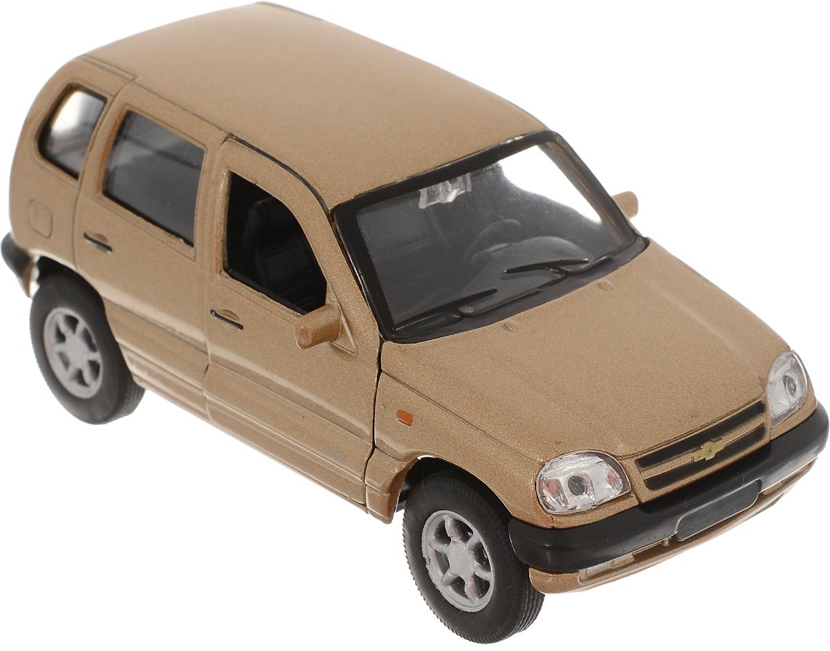 Welly Модель автомобиля Chevrolet Niva цвет золотистый welly модель автомобиля audi r8 v10 цвет красный