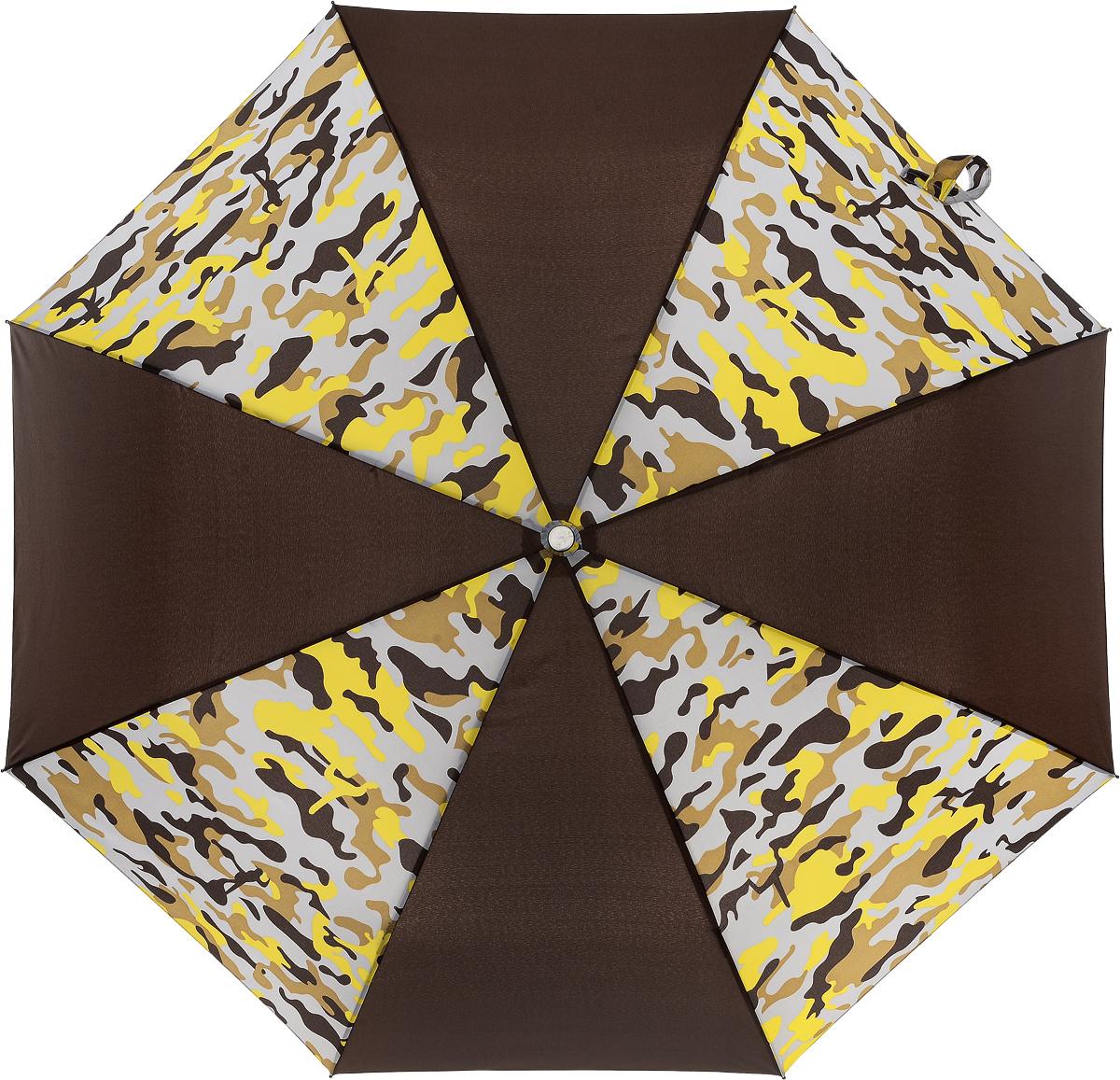 Зонт Эврика Самолет, цвет: коричневый, желтый. 97866Серьги с подвескамиОригинальный зонт - самолет, отличный подарок как человеку, связанному с небом (подарок пилоту, бортпроводнику, стюардессе), так и просто любителям неба и путешествий.Размеры зонта в раскрытом виде: 100х60 см.Размеры упаковки: 30х6х6 смУпаковка: красочный картон.