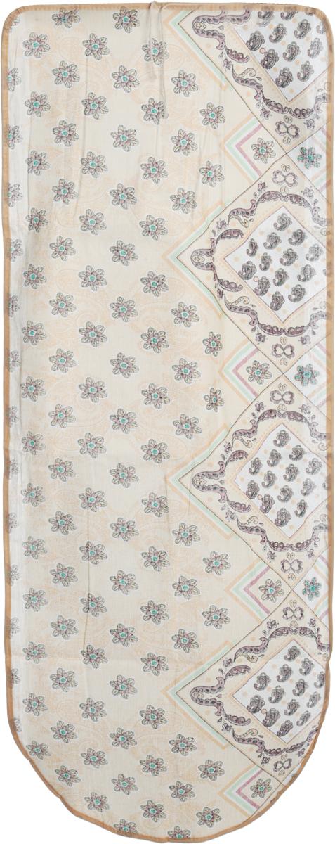Чехол для гладильной доски Eva Геометрия, цвет: бежевый, 125 х 47 смGC204/30Чехол для гладильной доски Eva Геометрия, цвет: бежевый, 125 х 47 см