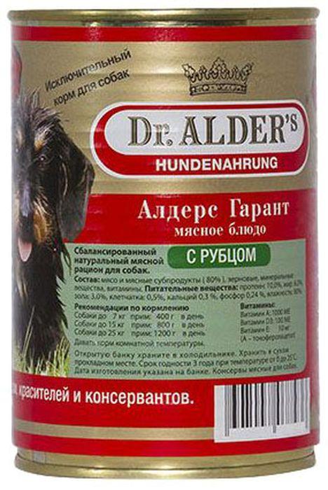 Консервы для собак Dr. Alders Алдерс Гарант, рубец с сердцем, 400 г61411Консервы для собак Dr. Alders Алдерс Гарант - является полнорационным сбалансированным кормом и идеально подходит, как для ежедневного кормления в чистом виде, так и для добавок к кашам, супам и сухим кормам.Щенкам рекомендуется давать в чистом виде, начиная с 3-х недельного возраста. Различные варианты используемого мяса служат для более полного удовлетворения вкуса собак и разнообразия в их рационе.Без искусственных красителей, консервирующих веществ и вкусовых добавок. Не содержит сои и ГМО.Состав: 80% мясо и мясные субпродукты, животные жиры, растительные масла, витамины и минеральные соли.Товар сертифицирован.