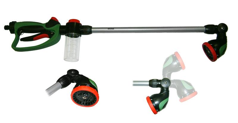 Штанга для полива Skrab, 110 мм, 10режимов, 180°, с диспенсером112829Штанга для полива 110мм10 режимов работыПовороная голова на 180°Оснащен диспенсеромСделано в Тайване.