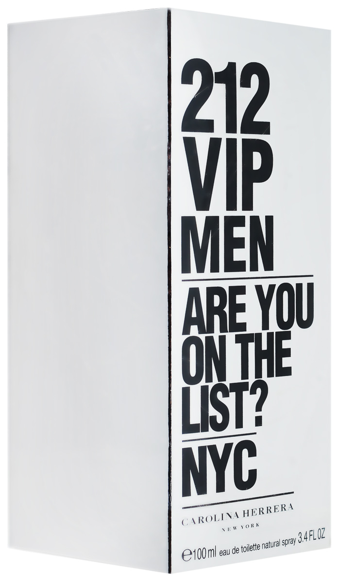 Carolina Herrera 212 VIP Men Are you on the list? NYC. Туалетная вода, 100 мл2218Carolina Herrera 212 VIP Men Are you on the list? NYC. Туалетная вода, 100 мл