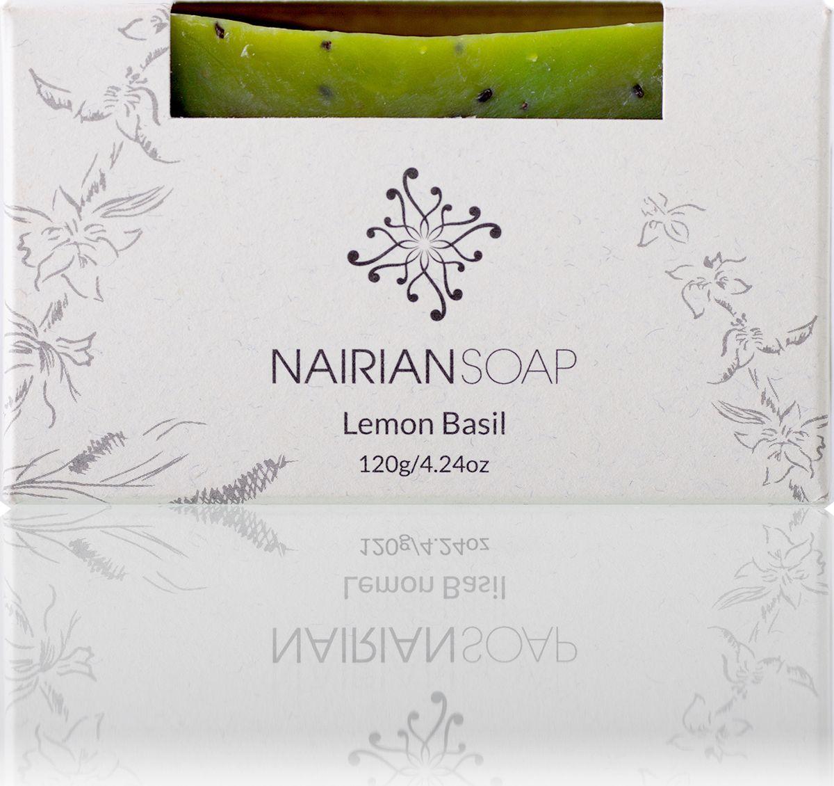 Nairian Мыло, лимонный базилик, 120 гBSSLB-01-0120Масло виноградных косточек и эфирное масло лимонного базилика – прекрасное сочетание для жирной и предрасположенной к акне кожи. Эфирное масло лимонного базилика убивает бактерии и сужает расширенные поры, а масло виноградных косточек увлажняет и смягчает кожу, препятствует закупориванию пор. При использовании в горячем душе испаряющееся масло лимонного базилика очищает бронхи и легкие, облегчает кашель. Подходит для всего тела. Рекомендовано людям с жирной и проблемной кожей.