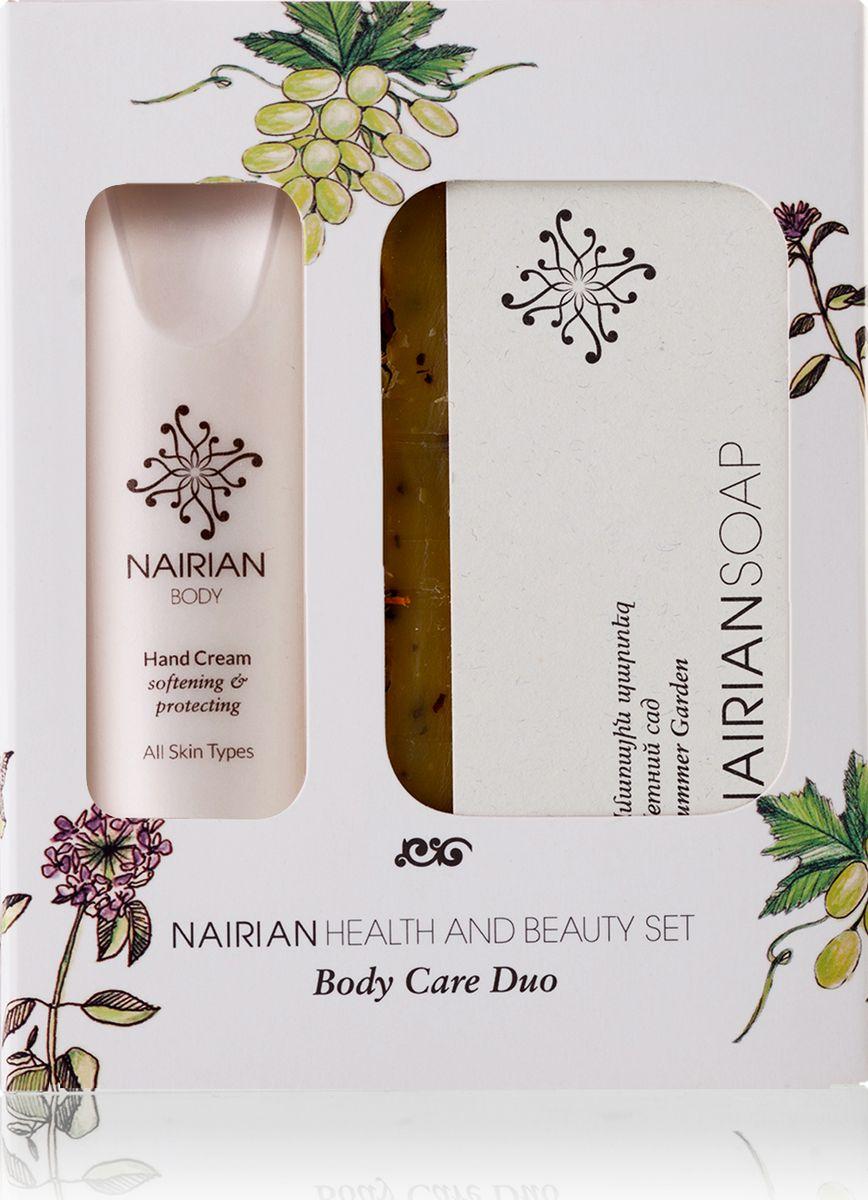 Nairian Коллекция для красоты и здоровья дуо уход за телом: крем для рук 30 мл и мыло летний сад, 150 г - Наборы