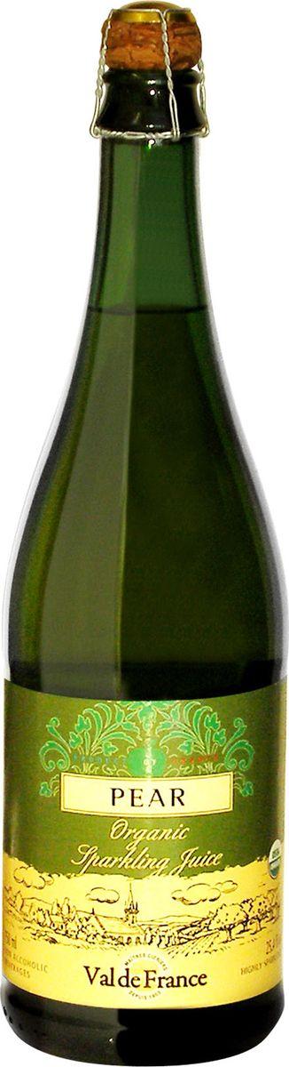 Val De France напиток газированный груша, 0,75 л851231000969Val De France - это игристый сок из натуральных фруктов, изготавливаемый в старинной французской провинции Бретань, прославленной кальвадосом, сидром и игристыми напитками на основе минеральной воды. Французские лимонады Val De France обладают сладковато-кислым, слегка горьковатым утонченным вкусом, который не оставит равнодушным даже самого взыскательного сомелье. Разливаются лимонады в оригинальные бутылки, закупоренные пробкой, изготовленной из пробкового дерева. Может использоваться как детское шампанское на детских мероприятиях.