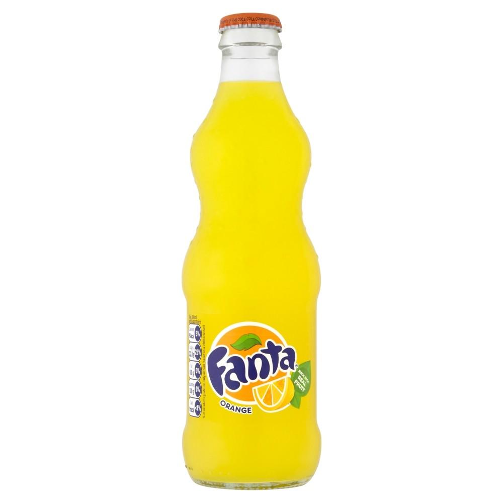 Fanta напиток газированный, 330 мл90495007Газированный напиток FANTA – это отличный повод собрать друзей. Яркий вкус, сочный цвет и узнаваемый бренд делают товар выбором многих покупателей.В состав напитка вошли очищенная газированная вода и натуральный апельсиновый сок, который и стал основой неповторимого вкуса и выраженного аромата. Производитель – бренд Coca-Cola – давно известен в России и на протяжении многих лет является дополнительной гарантией качества продукции.