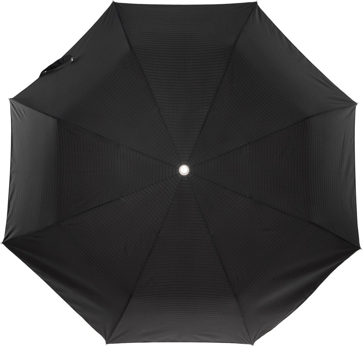 Зонт Slava Zaitsev, цвет: черный. SZ-042/1 midiBКолье (короткие одноярусные бусы)Зонт усиленной конструкции с увеличенным куполом. Механизм 3 сложения, полный автомат, стальная усиленная конструкция (вес - 480 гр), система антиветер. Диаметр купола - 120 см по верхней части, 105 см по нижней. Длина в сложенном состоянии - 30 см.