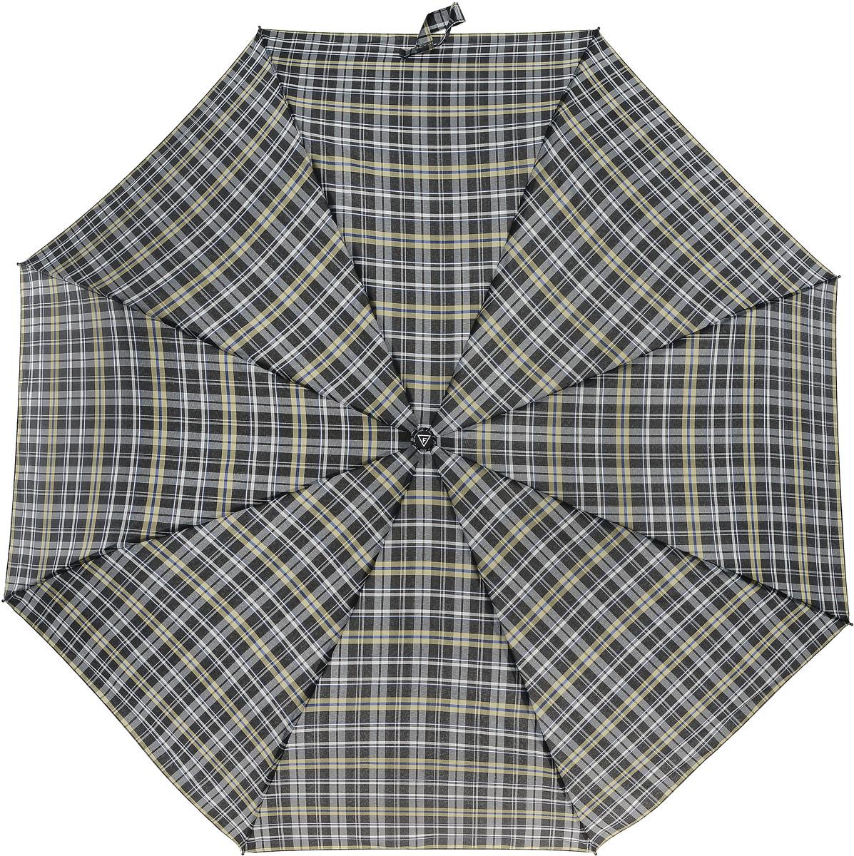 Зонт мужской Fabretti, цвет: черный. MCH-8Бусы-ниткаКлассический зонт - полный автомат от итальянского бренда Fabretti. Материал купола - эпонж, обладает высокой прочностью и износостойкостью. Вода на куполе из такого материала скатывается каплями вниз, а не впитывается, на нем практически не видны следы изгибов. Эргономичная ручка сделана из высококачественного пластика-полиуретана с противоскользящей обработкой.
