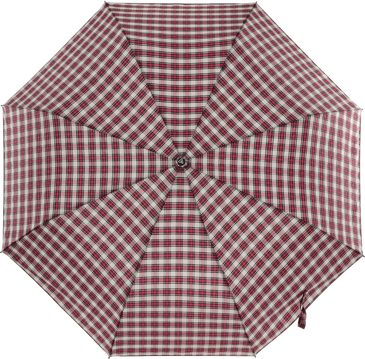 Зонт женский Fabretti, цвет: красный. FCH-10Колье (короткие одноярусные бусы)Классический зонт - полный автомат от итальянского бренда Fabretti. Материал купола - эпонж, обладает высокой прочностью и износостойкостью. Вода на куполе из такого материала скатывается каплями вниз, а не впитывается, на нем практически не видны следы изгибов. Эргономичная ручка сделана из высококачественного пластика-полиуретана с противоскользящей обработкой.