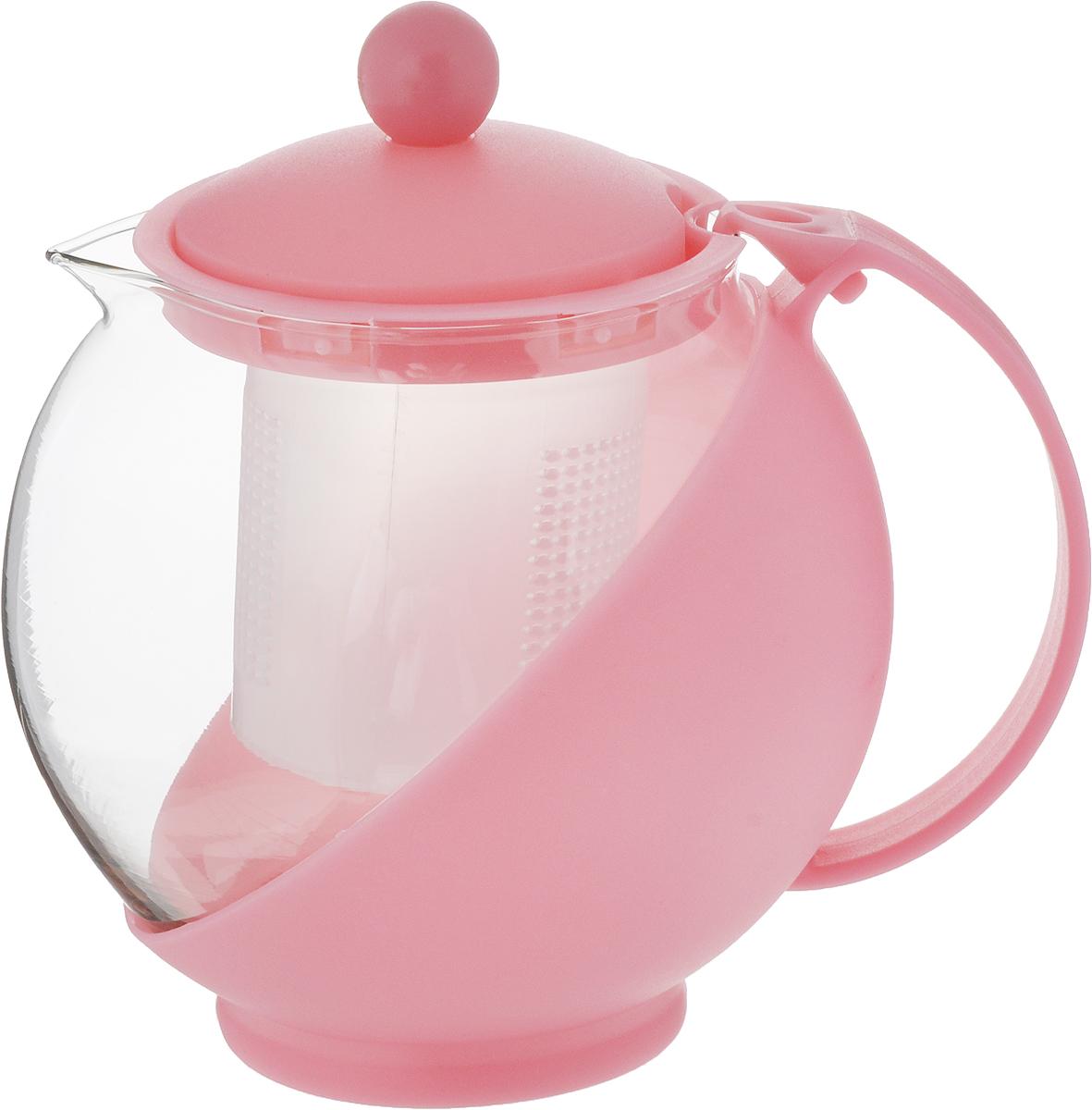 Чайник заварочный Wellberg Aqual, с фильтром, цвет: прозрачный, розовый, 750 мл68/5/4Заварочный чайник Wellberg Aqual изготовлен из высококачественного пластика и жаропрочного стекла. Чайник имеет пластиковый фильтр и оснащен удобной ручкой. Он прекрасно подойдет для заваривания чая и травяных напитков. Такой заварочный чайник займет достойное место на вашей кухне.Высота чайника (без учета крышки): 11,5 см.Высота чайника (с учетом крышки): 14 см. Диаметр (по верхнему краю) 7 см.