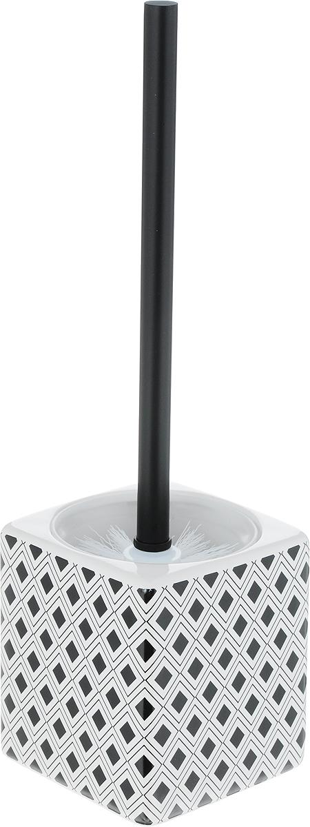 Ершик для унитаза Коллекция Гео, с подставкой, высота 37,5 смBL505Ерш для унитаза Коллекция Гео состоит из ершика для унитаза и подставки, выполненных из высококачественной керамики и пластика. Прочная ручка и жесткий ворс обеспечивают эффективное использование.Подставка под ерш отличается легкостью и компактностью.Такой набор станет достойным дополнением туалетной комнаты. Длина ерша для унитаза: 36,5 см. Размер рабочей поверхности ерша: 9,5 х 8 см. Размер подставки для ерша: 11 х 11 х 12 см.Размер стакана для подставки: 10 х 10 х 11 см.Высота ерша с подставкой: 37,5 см.