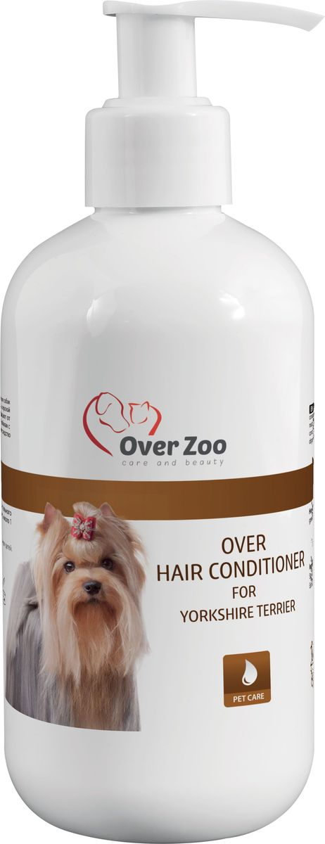 Кондиционер OverZoo, для Йоркширских Терьеров, 250 мл5900232786015Кондиционер для йоркширских терьеров OverZoo применяют для регулярного ухода за кожно-шерстным покровом собак. Кондиционер рекомендован для йоркширских терьеров. Не содержит красителей, парабенов и синтетических отдушек.br>Способ применения: необходимое количество кондиционера нанесите на чистую шерсть животного, распределите по всей поверхности, оставьте на 1-2 минуты, затем тщательно промойте водой. При необходимости повторите процедуру и высушите шерсть. Товар сертифицирован.