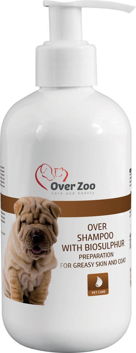 Шампунь OverZoo, с биосерой для собак и кошек, 250 мл590023278413Специальный шампунь OverZoo изготовлен для собак и кошек с жирной кожей. Благодаря содержанию биосеры, шампунь регулирует выделение секрета сальных желез (себума)и ограничивает ощущение зуда кожи. Продукт рекомендуется животным с дерматологическими проблемами. Препарат помогает при лечении микозов кожи. Шампунь содержит нежные моющие вещества. Не содержит соли и красителей (не раздражает нежной кожи собаки).