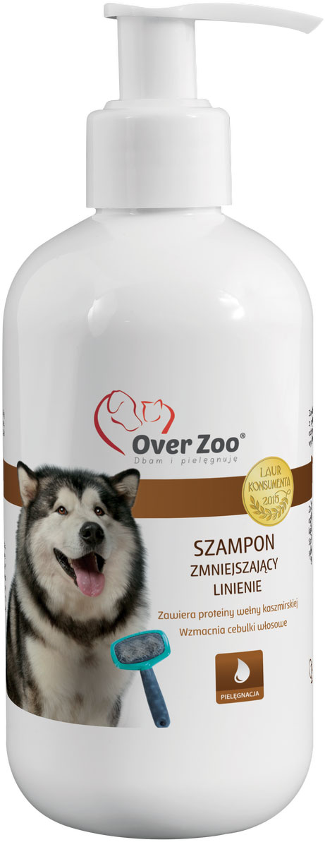 Шампунь OverZoo, уменьшающий линьку у собак, 250 мл5900232784172Шампунь уменьшающий линьку у собак