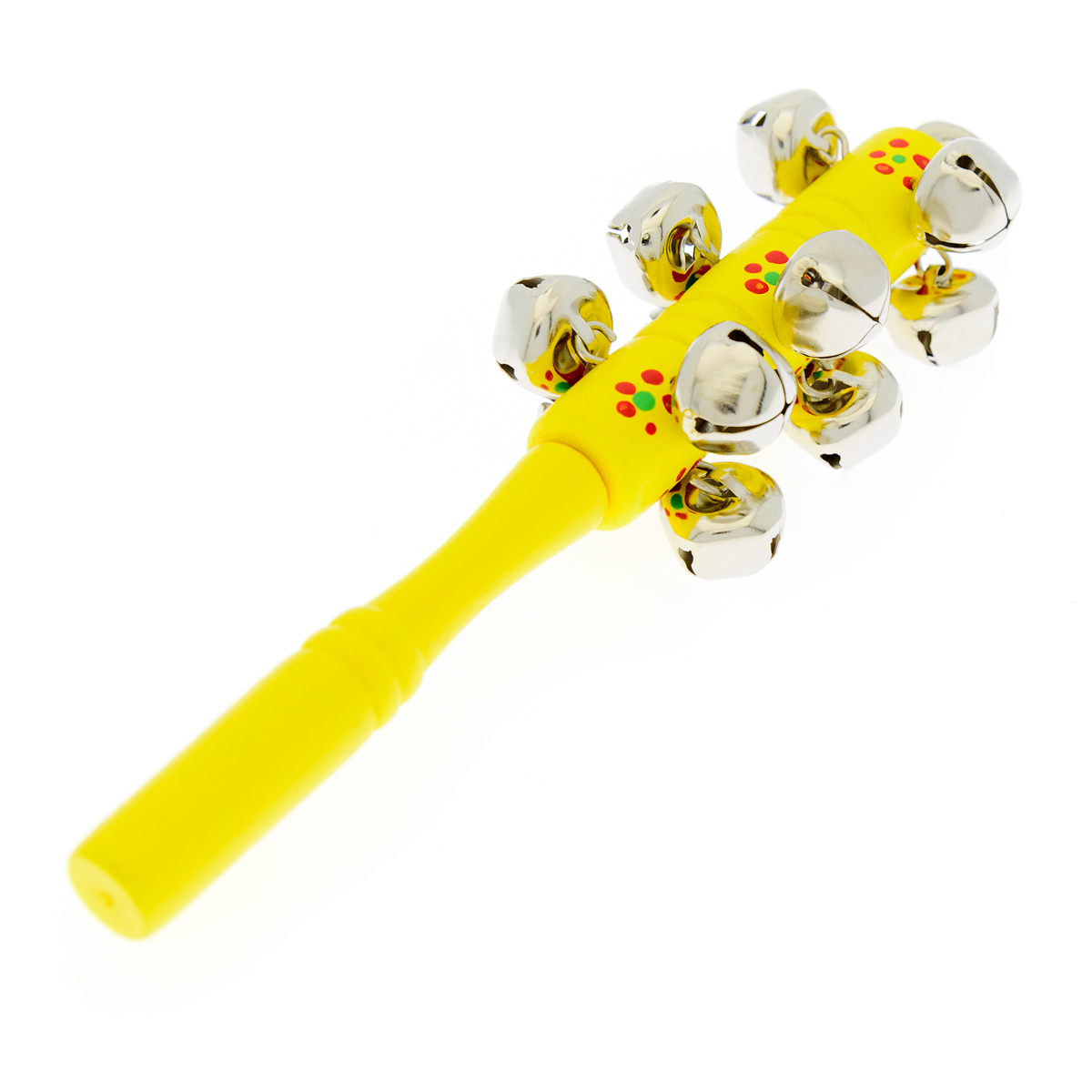 Анданте Детский музыкальный инструмент Стучалка Бубенцы цвет желтый