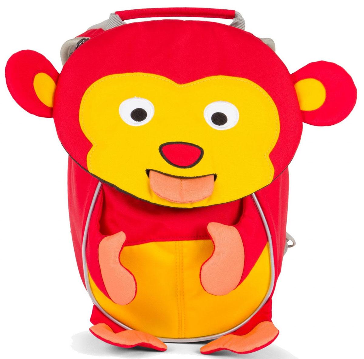 Affenzahn Рюкзак дошкольный Albert MonkeyAFZ-FAS-001-011Рюкзак Affenzahn, выполненный из прочного материала, предназначен для детей раннего возраста.Предусмотрена возможность регулировки лямочной системы, в частности, нагрудного ремня по высоте. Рюкзак включает в себя вместительное внутреннее отделение с растягивающимся карманом. На ярлыке в виде высовывающегося языка можно написать имя ребенка. Изделие оснащено ручкой для переноски. Светоотражающие элементы на внешней стороне рюкзака повышают безопасность на улице.