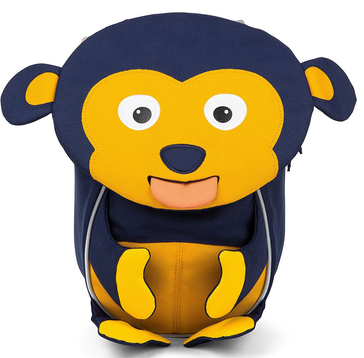 Affenzahn Рюкзак дошкольный Marty Monkey цвет темно-синий730396Рюкзак, выполненный из прочного материала, предназначен для детей раннего возраста.Предусмотрена возможность регулировки лямочной системы, в частности, нагрудного ремня по высоте.Включает в себя вместительное внутреннее отделение с растягивающимся карманом.На ярлыке в виде высовывающегося языка можно написать имя ребёнка.Изделие оснащёно ручкой для переноски.Светоотражающие элементы на внешней стороне рюкзака повышают безопасность на улице.Спинка: Дышащая спинка