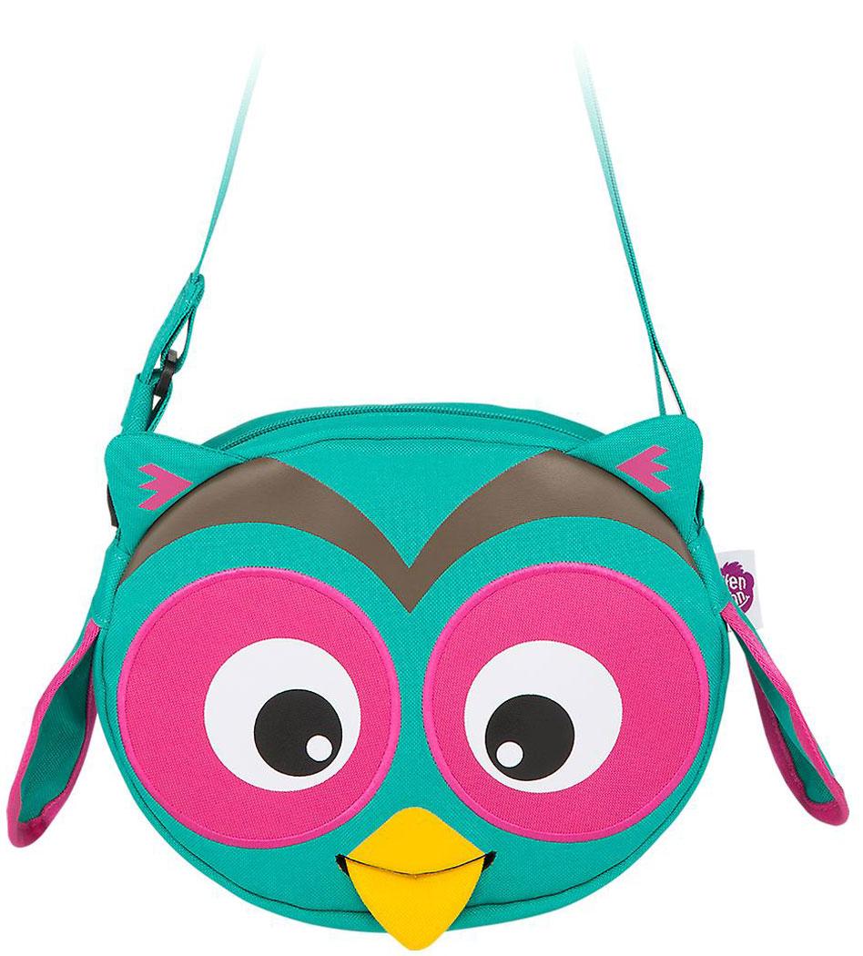 Affenzahn Сумочка детская Olivia Owl цвет бирюзовый розовый72523WDДетская сумочка из прочного материала. Вместительное внутреннее отделение с карманом. Регулируемый длинный ремешок, позволяющий носить сумочку через плечо. Специальный высовывающийся ярлык-язык для написания имени ребенка. Ребенок может играть и развиваться, вытаскивая язык персонажа, открывая и закрывая молнию. Оригинальный дизайн. Вес 130 грамм, объем 2 литра, размеры 22 x 7 x 20 см. Для ребенка от года до шести лет.