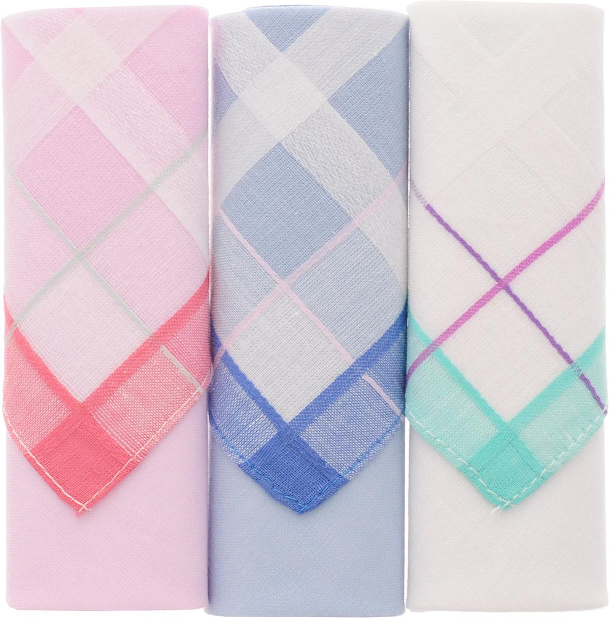 Платок носовой женский Zlata Korunka, цвет: розовый, синий, белый, 3 шт. 71321-3. Размер 34 см х 34 смАжурная брошьНебольшой женский носовой платок Zlata Korunka изготовлен из высококачественного натурального хлопка, благодаря чему приятен в использовании, хорошо стирается, не садится и отлично впитывает влагу. Практичный и изящный носовой платок будет незаменим в повседневной жизни любого современного человека. Такой платок послужит стильным аксессуаром и подчеркнет ваше превосходное чувство вкуса.В комплекте 3 платка.