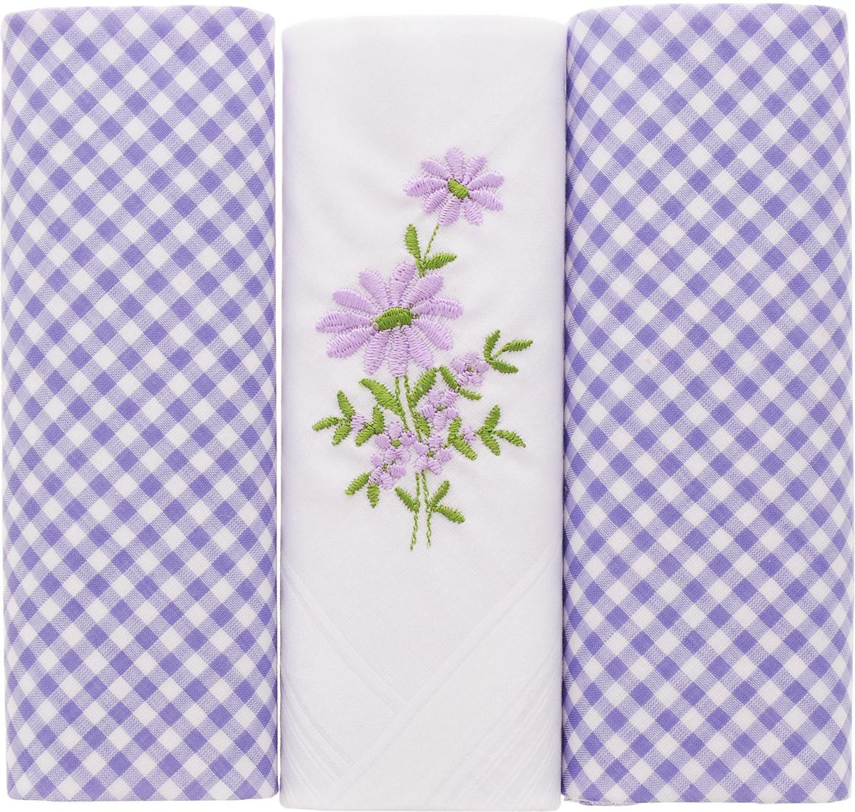 Платок носовой женский Zlata Korunka, цвет: белый, голубой, 3 шт. 90330-4. Размер 29 см х 29 смСерьги с подвескамиНебольшой женский носовой платок Zlata Korunka изготовлен из высококачественного натурального хлопка, благодаря чему приятен в использовании, хорошо стирается, не садится и отлично впитывает влагу. Практичный и изящный носовой платок будет незаменим в повседневной жизни любого современного человека. Такой платок послужит стильным аксессуаром и подчеркнет ваше превосходное чувство вкуса.В комплекте 3 платка.