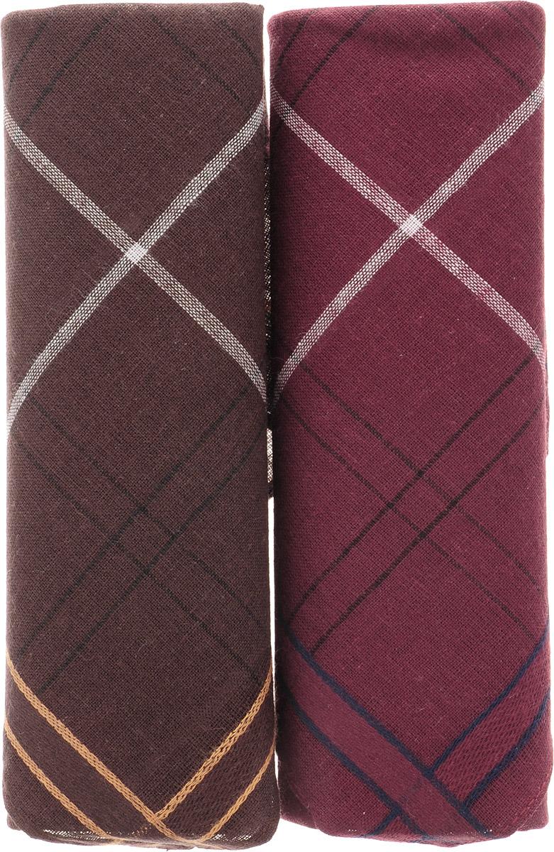 Платок носовой мужской Zlata Korunka, цвет: темно-коричневый, бордовый, 2 шт. 40214-4. Размер 38 см х 38 смСерьги с подвескамиОригинальный мужской носовой платок Zlata Korunka изготовлен из высококачественного натурального хлопка, благодаря чему приятен в использовании, хорошо стирается, не садится и отлично впитывает влагу. Практичный и изящный носовой платок будет незаменим в повседневной жизни любого современного человека. Такой платок послужит стильным аксессуаром и подчеркнет ваше превосходное чувство вкуса.В комплекте 2 платка.