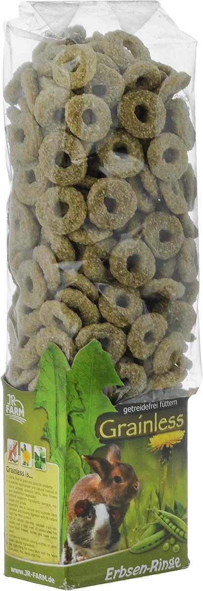 Лакомство для грызунов JR Farm Гороховые колечки, 150 г0120710Лакомые беззерновые колечки полностью изготовлены из овощей. Горох, из которого сделано лакомство, является отличным диетическим компонентом питания для разнообразных грызунов.
