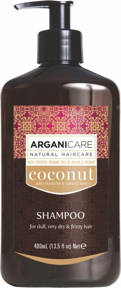 Arganicare Кокосовый шампунь для тусклых, очень сухих и вьющихся волос Arganicare, 400 млAr1165Ежедневный увлажняющий уход за тусклыми и очень сухими волосами.- быстро возвращает волосы к жизни с эффектом 3 в 1: питание, глубокое увлажнение и защита от повреждений;- восстанавливает поврежденные волосы, их мягкость и блеск, делает волосы более покладистыми и шелковистыми;- ухаживает также за сухой кожей головы, обильно её увлажняя.
