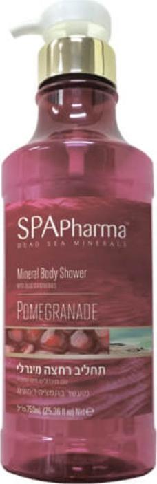 Spa Pharma Минеральный гель для душа с экстрактом граната, Spa Pharma 750 мл66-Ф-8-443РЭкстракт граната подтягивает и уплотняет кожу, борется с её дряблостью, усталостью и потерей тонуса и иммунитета.При регулярном применении кожа как будто оживает, становясь яркой, живой и увлажненной.Гель для душа образует мягкую пенку, не сушит и не стягивает кожу.