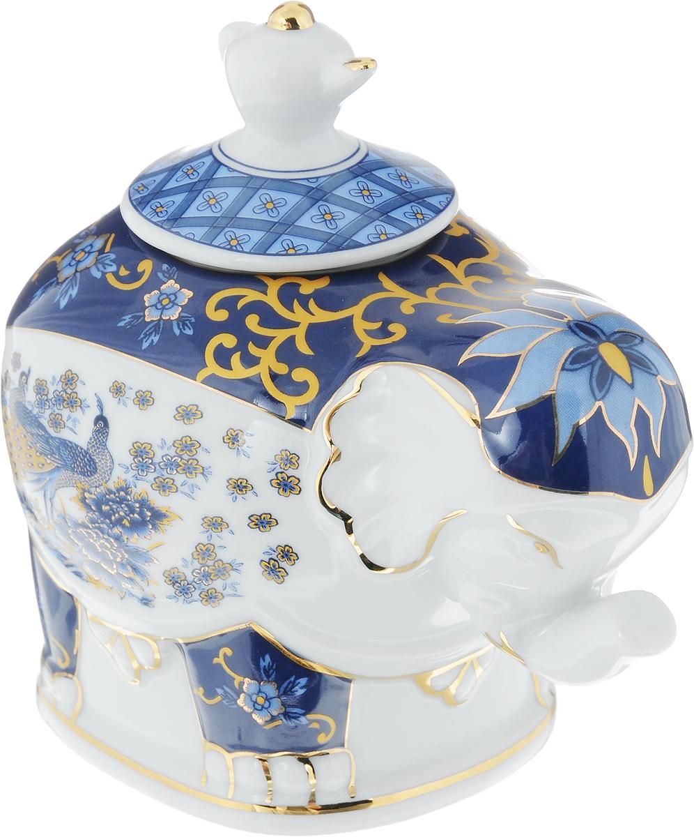 Чайница Elan Gallery Слон. Синий павлин, 350 мл elan gallery шпажки для канапе с подставкой слон оранжевый