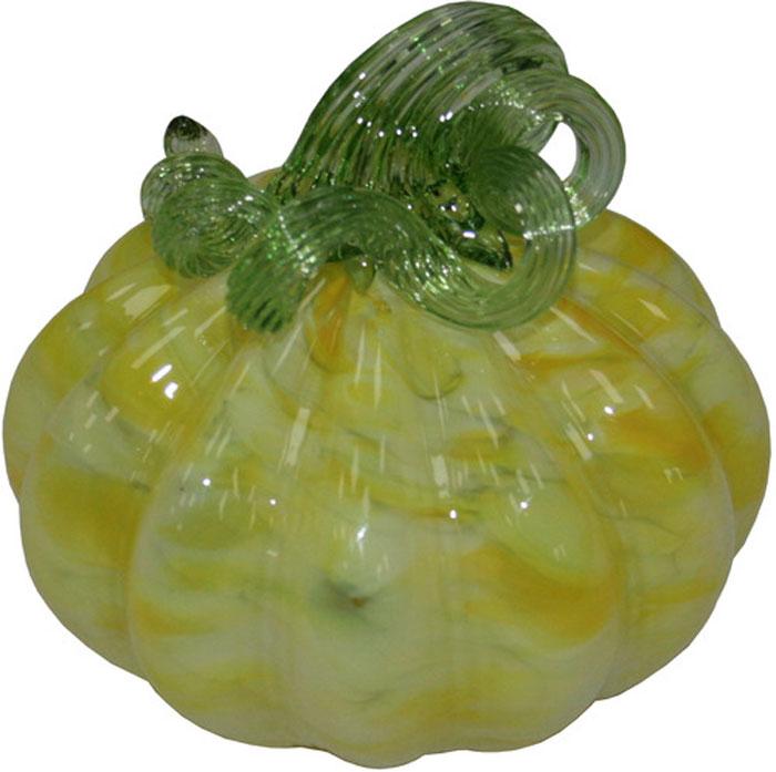 Фигурка декоративная Proffi Тыква, цвет: желтый, высота 12 см700106Стекло, диаметр - 130 мм, высота - 120 мм.