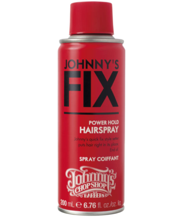 Johnnys Chop Shop Johnnys Fix Hairspray лак для волос, 200 мл8001090374035Спрей мгновенного действия для жёсткой фиксации волос от Johnny's указывает волосам их место. И точка! Приводит волосы в порядок, обеспечивая длительную фиксацию любой укладки. Не даёт волосам завиваться, обеспечивает влагоустойчивость. Подходит для всех типов волос. Содержит провитамин В5, который улучшает блеск и сияние волос, предотвращая их повреждение. Без парабенов.
