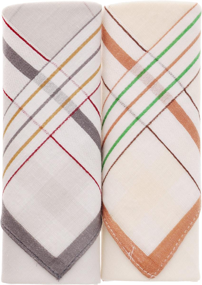 Платок носовой мужской Zlata Korunka, цвет: белый, коричневый, серый, 2 шт. 40213-22. Размер 38 см х 38 смАжурная брошьОригинальный мужской носовой платок Zlata Korunka изготовлен из высококачественного натурального хлопка, благодаря чему приятен в использовании, хорошо стирается, не садится и отлично впитывает влагу. Практичный и изящный носовой платок будет незаменим в повседневной жизни любого современного человека. Такой платок послужит стильным аксессуаром и подчеркнет ваше превосходное чувство вкуса.В комплекте 2 платка.