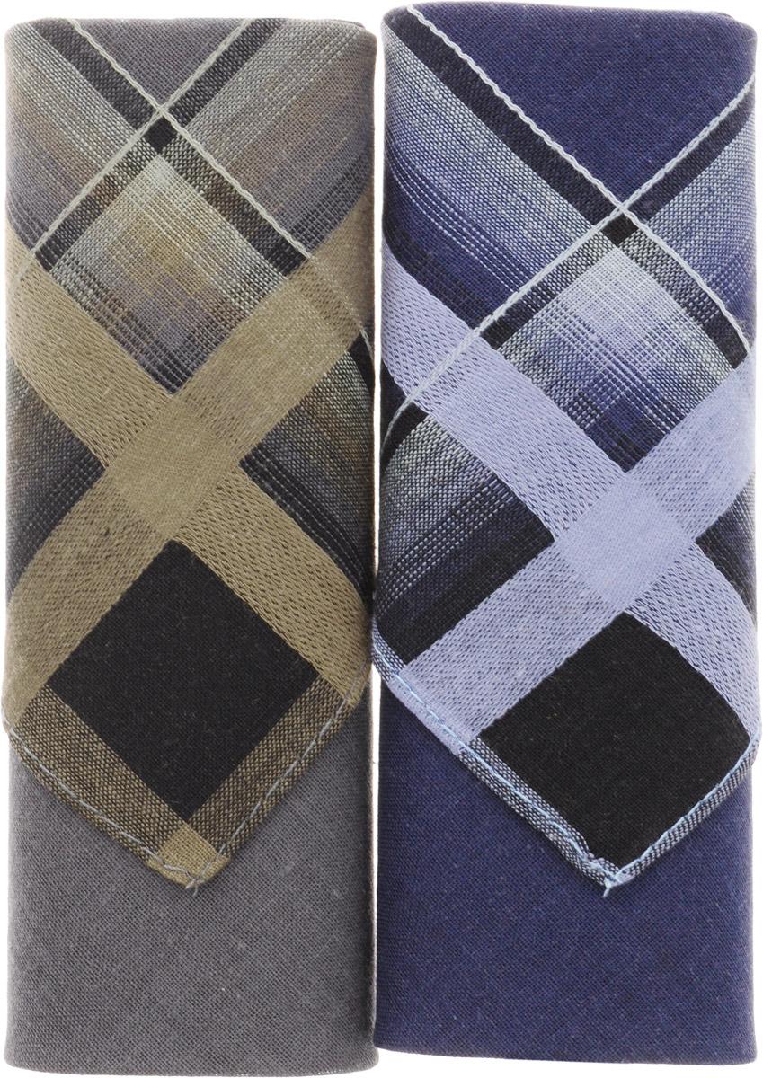 Платок носовой мужской Zlata Korunka, цвет: темно-зеленый, темно-синий, 2 шт. 40213-2. Размер 38 см х 38 смСерьги с подвескамиОригинальный мужской носовой платок Zlata Korunka изготовлен из высококачественного натурального хлопка, благодаря чему приятен в использовании, хорошо стирается, не садится и отлично впитывает влагу. Практичный и изящный носовой платок будет незаменим в повседневной жизни любого современного человека. Такой платок послужит стильным аксессуаром и подчеркнет ваше превосходное чувство вкуса.В комплекте 2 платка.