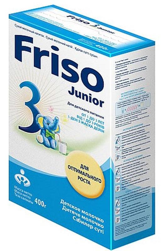 Friso Фрисо 3 Junior детское молочко с 12 месяцев, 400 г2719Детское молочко «Фрисо 3 Junior» - сухой молочный напиток для детей с 1 года до 3 лет, важный дополнительный источник макро- и микронутриентов в питании детей. Только из свежего молока, получаемого на собственных фермах компании. Отвечает всем требованиям по качеству и безопасности. • содержит основные макро- и микронутриенты для нормального физического и нервно-психического развития ребенка старше 1 года, • позволяет компенсировать недостаток витаминов и микроэлементов в рационе ребенка старше года, возникающих вследствие возрастных физиологических особенностей, а также сформировавшихся пищевых привычек и «капризов», • легко усваивается, • имеет хорошие вкусовые качества, ванильный вкус.