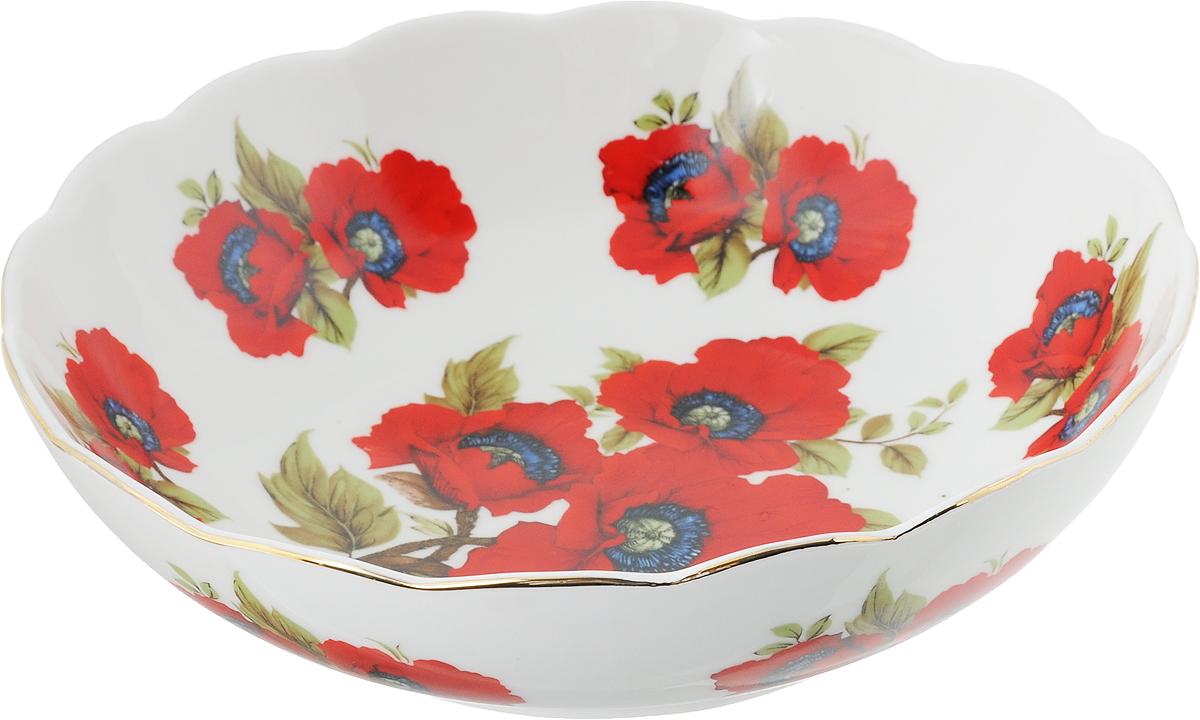 Салатник Elan Gallery Маки, 750 мл115510Великолепный салатник с волнистым краем Elan Gallery Маки, изготовленный из высококачественной керамики, прекрасно подойдет для подачи различных блюд: закусок, салатов или фруктов. Такой салатник украсит ваш праздничный или обеденный стол, а оригинальное исполнение понравится любой хозяйке. Диаметр салатника (по верхнему краю): 20 см. Высота салатника: 5,5 см. Объём салатника: 750 мл.