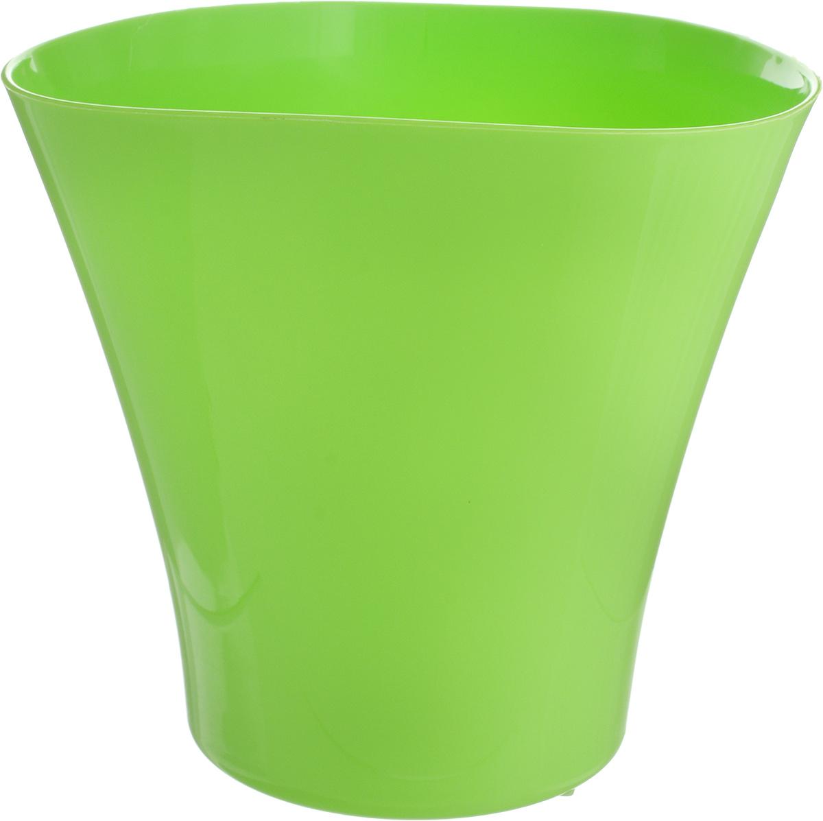 Кашпо JetPlast Волна, цвет: зеленый, 3 л4612754050567Кашпо Волна имеет уникальную форму, сочетающуюся как с классическим, так и с современным дизайном интерьера. Разнообразие цветов дает возможность подобрать кашпо именно под ваш стиль.Объем: 3 л.