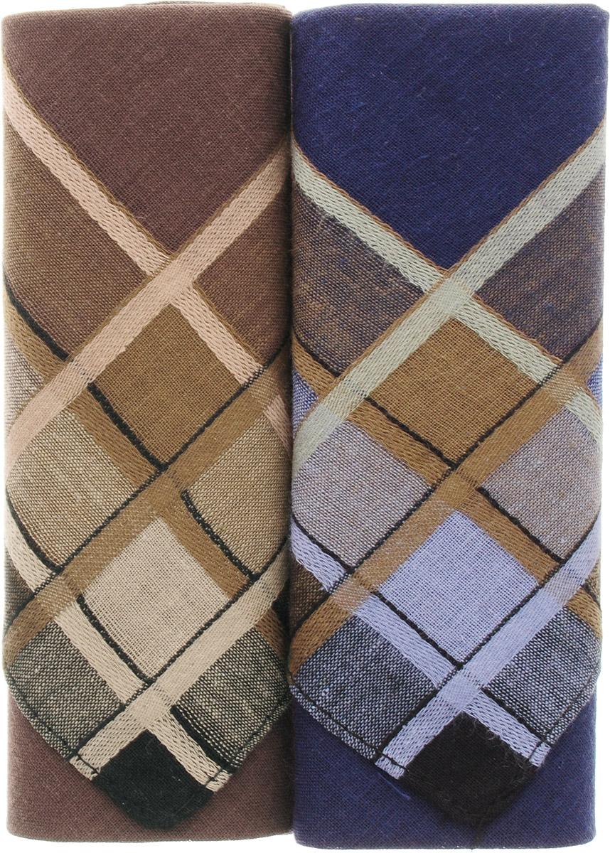 Платок носовой мужской Zlata Korunka, цвет: коричневый, синий, 2 шт. 40213-11. Размер 38 см х 38 смСерьги с подвескамиОригинальный мужской носовой платок Zlata Korunka изготовлен из высококачественного натурального хлопка, благодаря чему приятен в использовании, хорошо стирается, не садится и отлично впитывает влагу. Практичный и изящный носовой платок будет незаменим в повседневной жизни любого современного человека. Такой платок послужит стильным аксессуаром и подчеркнет ваше превосходное чувство вкуса.В комплекте 2 платка.