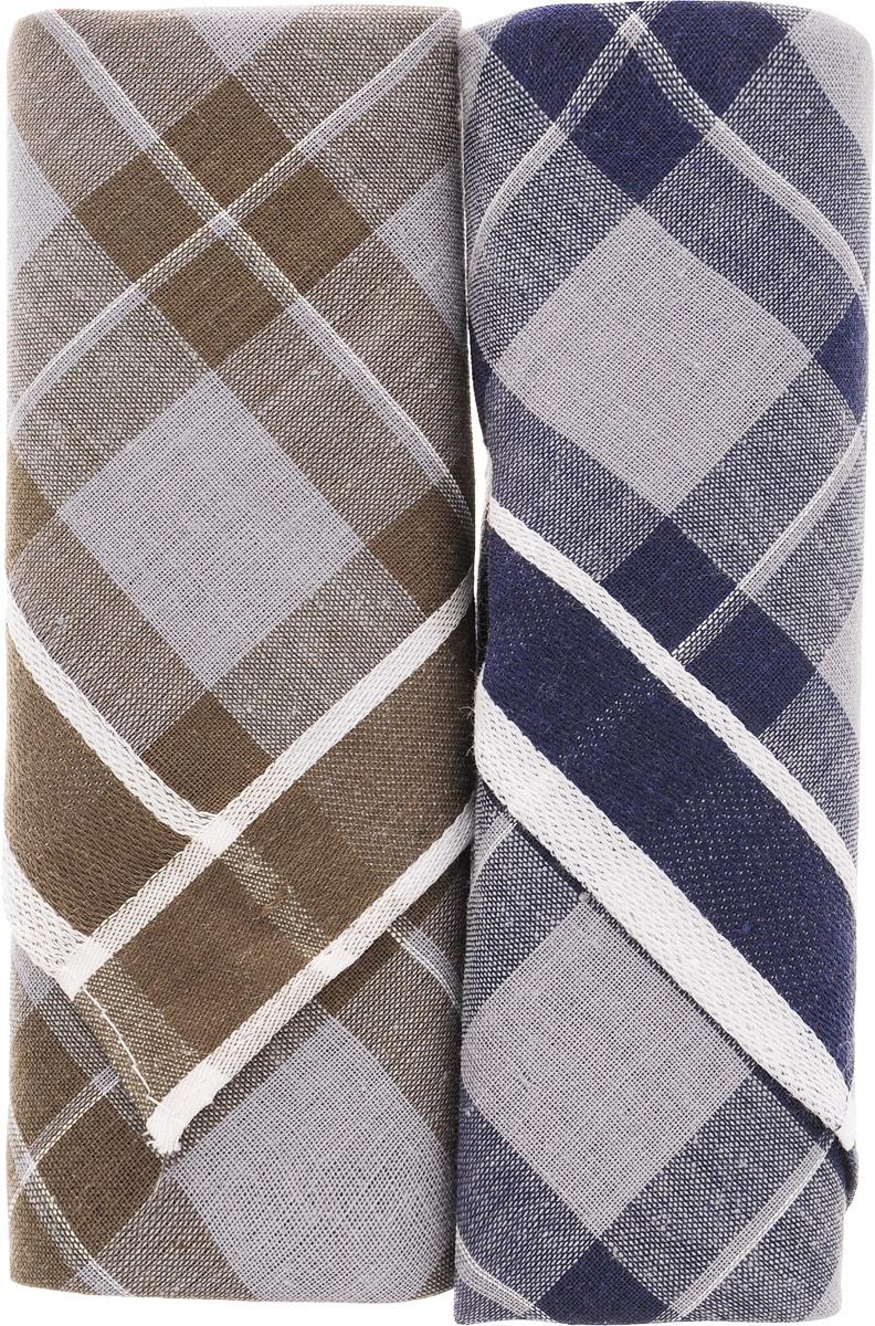 Платок носовой мужской Zlata Korunka, цвет: темно-синий, темно-коричневый, 2 шт. 40213-4. Размер 38 см х 38 смБрошь-булавкаОригинальный мужской носовой платок Zlata Korunka изготовлен из высококачественного натурального хлопка, благодаря чему приятен в использовании, хорошо стирается, не садится и отлично впитывает влагу. Практичный и изящный носовой платок будет незаменим в повседневной жизни любого современного человека. Такой платок послужит стильным аксессуаром и подчеркнет ваше превосходное чувство вкуса.В комплекте 2 платка.