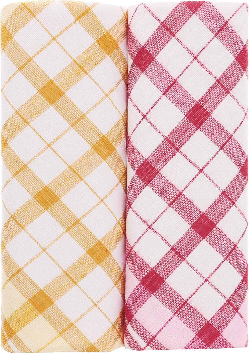 Платок носовой женский Zlata Korunka, цвет: белый, оранжевый, красный, 2 шт. 40221-28. Размер 43 см х 43 смСерьги с подвескамиОригинальный женский носовой платок Zlata Korunka изготовлен из высококачественного натурального хлопка, благодаря чему приятен в использовании, хорошо стирается, не садится и отлично впитывает влагу. Практичный и изящный носовой платок будет незаменим в повседневной жизни любого современного человека. Такой платок послужит стильным аксессуаром и подчеркнет ваше превосходное чувство вкуса.