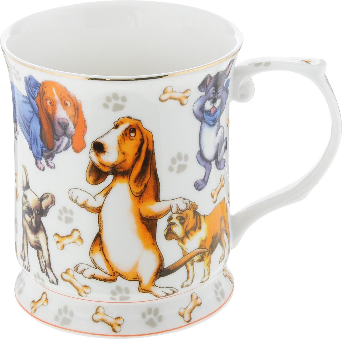 Кружка Elan Gallery Веселые собачки, 400 мл420044Оригинальная кружка Elan Gallery Веселые собачки выполнена из высококачественной керамики. Подойдет для чая, кофе и других напитков. Удобна в использовании благодаря устойчивой форме. Изделие имеет подарочную упаковку.Не рекомендуется применять абразивные моющие средства.Не рекомендуется использовать в микроволновой печи. Диаметр (по верхнему краю): 9 см.Высота: 10 см. Объем: 400 мл.
